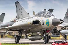 SwAFHF Saab Draken taxiing after it's awesome demo (Nicky Boogaard) Tags: luchtmachtdagen2019 lmd2019 saab saabdraken draken swafhf swedishairforce