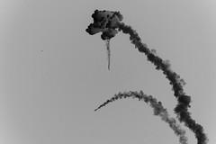Ascent Abort-2 Liftoff, variant (sjrankin) Tags: ascentabort2 aa2 orion launchabortsystem las aborttest moontomars launchpad46 artemis2 3july2019 florida rocket spacecraft exhaust plume test nasa edited grayscale