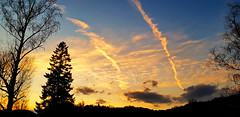 Sky scars and silhouettes (Suvad ArhDES pls fave my showcase first) Tags: sky scars sunset silhouettes varazdinske toplice suvad hamzić nature priroda
