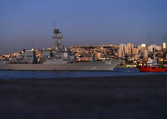 USS Michael Murphy (DDG 112) returns to port in Valparaiso, Chile.