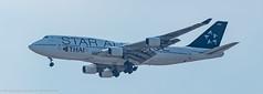 Thai Airways 747 in Star Alliance livery landing at BKK (Alaskan Dude) Tags: travel thailand bangkok bkk bangkokairport suvarnabhumiairport aircraft airplane airplanes airline airlines airliners aviation placespotting planewatching planespotting