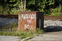Wayne in Box (Restless Eye) Tags: oakridge tennessee usa box rust wayne railroad graffiti