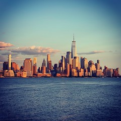 Downtown NYC At Sunset (Christian Montone) Tags: montone christianmontone summer 2019 nyc ny manhattan newyork newyorkcity skyline skyscrapers cityscape sunset
