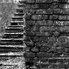Стена кирпичная, надпись лох, лестница, лабиринт (Nanaccept) Tags: стена надпись лох лестница лабиринт кирпичный черный белый монохром фото иллюстрация nanaccept cmm