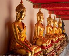 Sights at Wat Pho (the temple of the Reclining Buddha) (Alaskan Dude) Tags: travel thailand bangkok watpho watpo templeoftherecliningbuddha temples buddhisttemplecomplex art architecture cityscape