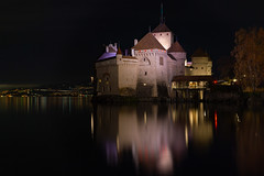Chillon by Night (andbog) Tags: sony alpha ilce a6000 sonya6000 emount mirrorless csc sonya sonyα sonyalpha sony⍺6000 sonyilce6000 sonyalpha6000 ⍺6000 ilce6000 architettura architecture castello castel wall remparts battlements merli merlons merlatura building night notte dark longexposure apsc oss sel castle castell edificio medieval svizzera suisse switzerland ch vaud montreux veytaux chillon châteaudechillon lake lago lights lacléman lagolemano 1650mm selp1650