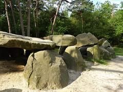 A closer view at the dolmen / hunebed (joeke pieters) Tags: 1480281 panasonicdmcfz150 emmen drenthe nederland netherlands holland hunebed dolmen bijzonderebergwandeling emmerdennen