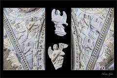 composizione con particolari del portale del duomo di Messina; composition with details of the Messina cathedral portal (adrianaaprati) Tags: white marble detail angels musicianangels cathedral messina portal composition duomo portale composizione angeli angelimusicanti