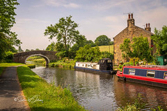 SJ1_8899 - Wanless Bridge (SWJuk) Tags: colne england unitedkingdom swjuk uk gb britain lancashire canal leedsliverpoolcanal water bridge boats narrowboats farmhouse trees towpath countryside landscape view scenery d7200 nikond7200 nikon nikkor1755mmf28 rawnef lightroomclassiccc barrowford