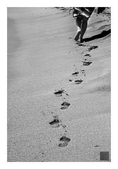 huellas efímeras entre ola y ola / ephemeral footprints between wave and wave (Luis kBAU) Tags: pasos steps huellas foot prints arena sand paseo walking caminar playa beach