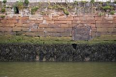 Harbour wall, Maryport, Cumbria, UK (Ministry) Tags: harbour wall maryport allerdale west cumbria uk sandstone seaweed brick arch river ellen rnbellen