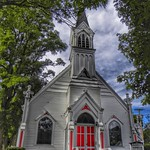 Wyoming  New York - Gaslight Village - United Methodist Church - 1883 - Gothic Architecture thumbnail