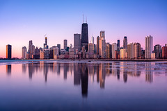 Chicago! (reinaroundtheglobe) Tags: chicago chicagoskyline illinois lakemichigan reflections skyline city cityscape sunrise buildings offices architecture financialdistrict