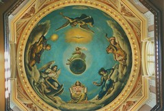 Notre Dame University - Interior Gold Dome - The Administration Building - 1882 - South Bend Indiana (Onasill ~ Bill Badzo - 67 M) Tags: university notre dame an ivy league school grandbend in indiana nortredame fighting irish football team basilica scared heart vintage photos old usa us america romancatholic catholic onasill historic district nrhp register campus holly cross congregation architecture neo gothic church vatican painter luigi gregori bell tower tallest attraction tours walking site must see museum pipe organ altar ceiling exterior interior murals stjosephcounty religion famous national landmark unitedstates administrationbuilding dome portico catholicschool mural southbend