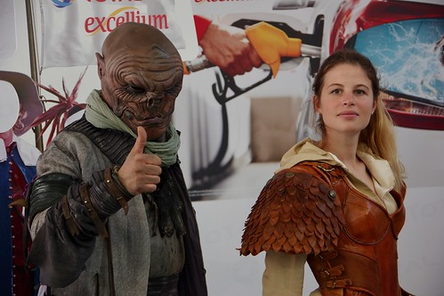 These two were on the Total Stand dressed up as some fantasy figures