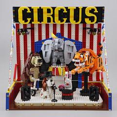 DOGOD_Animal_Circus_013 (DOGOD Brick Design) Tags: lego moc afol bricks animal circus dog bear rabbit tiger elephant legomoc taiwan taipei