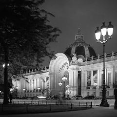 Petit Palais (csobie) Tags: bronicasqa 80mmf28ps yellowfilter k2 film tmax400 kodak analog 120 mediumformat 6x6 scan epson v600 blackandwhite paris petitpalais france travel night