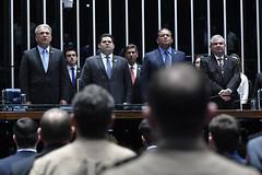 Plenário do Congresso (Senado Federal) Tags: plenário sessãosolene congressonacional emendaconstitucional ec1012019 militar senadorsérgiopetecãopsdac senadordavialcolumbredemap senadoreduardogomesmdbto senadorangelocoronelpsdba hinonacional brasília df brasil