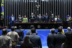 Plenário do Congresso (Senado Federal) Tags: plenário sessãosolene congressonacional emendaconstitucional ec1012019 militar deputadomárioheringerpdtmg deputadasorayasantosplrj senadorsérgiopetecãopsdac senadordavialcolumbredemap senadoreduardogomesmdbto senadorangelocoronelpsdba deputadocarlosbezerramdbmt hinonacional brasília df brasil