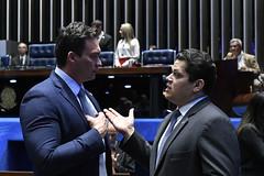 Plenário do Congresso (Senado Federal) Tags: congressonacional ec1012019 emendaconstitucional militar plenário senadordavialcolumbredemap senadorstyvensonvalentimpodemosrn sessãosolene brasília df brasil