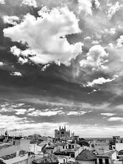 Cathedral La Seu .... (ISO 69) Tags: blackwhite bw black white palma mallorca laseu cathedral kathedrale church majorca schwarzweiss baleares sky balearen spain spanien espana