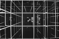 space zesk (Zesk MF) Tags: maninthemirror space lines bw black white cologne zesk selfie portrait incognito fuji x100f