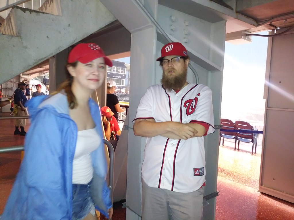 фото: Waiting out the rain delay for a walkoff win Nats vs Marlins