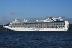 MS Crown Princess - North Queensferry - 27-06-19 (MarkP51) Tags: mscrownprincess northqueensferry firthofforth cruiseliner ship boat vessel nikon d7200 sunshine sunny maritimephotography nikon24120f4vr