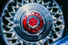 Packard (LXG_Photos) Tags: analog auto car cruisingrand e100 efm film velvet56 lensbaby seeinanewway ishootfilm shotonfilm macro wheel escondido