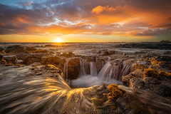 Pele's Well (Hilton Chen) Tags: hawaii kona bigisland sunset lava tube seascape leadinglines colorfulclouds