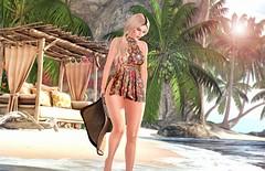 Nature's simple Treasure (desiredarkrose) Tags: beach woman walk beachwalk deaddollz ariskea uber kustom9 avatar secondlife amitie sl slblog slfashion tableauvivant