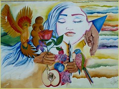 Tienimi per mano.. (antonè) Tags: murales villamar campidano sardegna streetart mural hermannhesse tienimipermano poesia dedica silviacaraartista