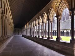 Cloister (Michel Couprie) Tags: europe france normandy normandie montsaintmichel abbaye abbey cloister cloitre church église perspective architecture samsung cellphone composition couprie