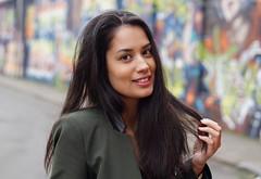 Mesmerizing Esmeralda (e³°°°) Tags: mesmerizing esmeralda portrait portraiture portret posing pose femme mademoiselle meisje antwerp antwerpen anvers angel retratos face frau female woman lady model mural wall grafitti smile sorria stunning sourire sonrisa smiling street stunner