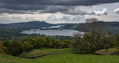 lakeside view (Phil-Gregory) Tags: ambleside2019 windermere wideangle water wall nikon d7200 sigma18250macro view vista countryside clouds cloudscape trees sky scenicsnotjustlandscapes