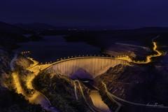 El Atazar (H.M.MURDOCK) Tags: atazar lozoya paisajes nocturnas azul agua embalse nikon d610