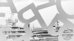 BRATS (Dare to share) Tags: france antibes alpesmaritimes blackandwhite bw marina yacht expensive luxury brats jonasthoren