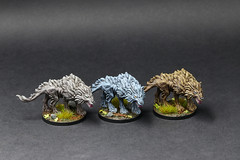 Lord of The Ring - Journeys in Middle Earth - Wargs (PeteB187) Tags: ffg fantasyflightgames fantasy tabletopgame boardgames miniature miniatures mini model painting painted paint 32mm tolkien
