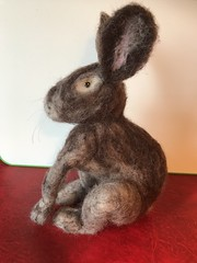 Felted hare (Artybee) Tags: needle felting wool hare craft art
