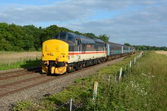 37419. Buckenham. 02-07-2019 (*Steve King*) Tags: 37419 class 37 mainline intercity livery 5j67 anglia loco hauled buckenham norwich lowestoft ecs