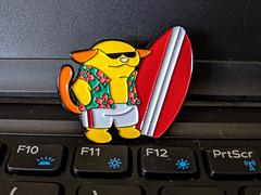 Wordcamp Jax has swag (JavaJoba) Tags: wapuus swag wcjax pixel3a googlepixel phone wordcamp surferdude surfer