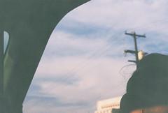 D067677-R1-30-31A (IrvLephunk) Tags: sun sunset nature city plants discoball disco scattered sky orange car mountain mountains huasteca monterrey nuevoleon antena nofilter noprocess raw 35mm film filmphotography bluesky silouhette