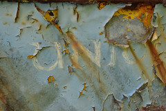 Wrack Wreck (fritzenalg) Tags: schiffswrack bootswrack abstract • abstraction aged brick bricks color decay distressed graphic graphics newmexico old oldandbeautiful paint patina texture type wall typography textures weathered farbreste abblätterndefarbe