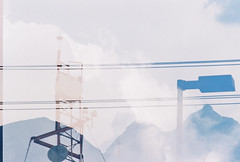 D067677-R1-11-11A (IrvLephunk) Tags: sun sunset nature city plants discoball disco scattered sky orange car mountain mountains huasteca monterrey nuevoleon antena nofilter noprocess raw 35mm film filmphotography bluesky silouhette