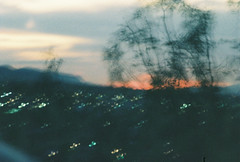 D067677-R1-06-6A (IrvLephunk) Tags: sun sunset nature city plants discoball disco scattered sky orange car mountain mountains huasteca monterrey nuevoleon antena nofilter noprocess raw 35mm film filmphotography bluesky silouhette