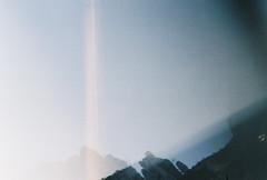 D067677-R1-25-26A (IrvLephunk) Tags: sun sunset nature city plants discoball disco scattered sky orange car mountain mountains huasteca monterrey nuevoleon antena nofilter noprocess raw 35mm film filmphotography bluesky silouhette