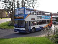 Stagecoach 18334 SF55NOU (preselected) Tags: bus coach stagecoach western scotland kilmarnock dennis alexander trident alx400