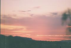 D067677-R1-04-4A (IrvLephunk) Tags: sun sunset nature city plants discoball disco scattered sky orange car mountain mountains huasteca monterrey nuevoleon antena nofilter noprocess raw 35mm film filmphotography bluesky silouhette