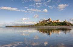 Bamburgh Castle (Dibbly Dobbler) Tags: bamburgh castle beach reflections sony rx10iii