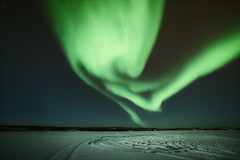 Twisted Skies (Atmospherics) Tags: northwestterritories aurora nightsky nightscene auroraandstars starrynight northerncanada vastness astrophotograhy winterscene canada northernlights atmospherics winternightsky greenaurora